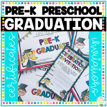 Pre-K and Preschool Graduation Certificates & Invitations ...