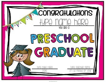 Pre-K and Preschool Graduation Certificates & Invitations by The ...