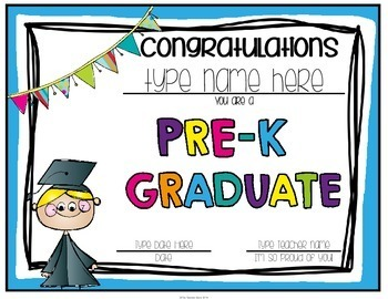 pre k and preschool graduation certificates invitations by the