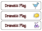 Pre-K center tags and signs