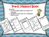 Pre-K end of the Year Memory Book