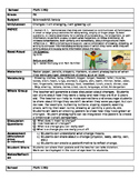 Pre K lesson plans for Changes