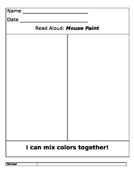Pre K lesson plans for Colors
