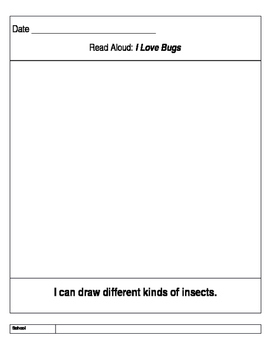 Pre K lesson plans for Insect Nonfiction and Fiction books
