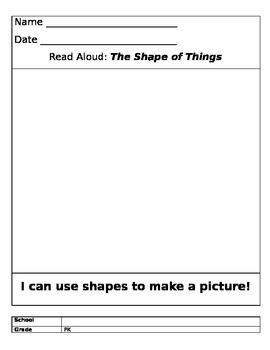 Pre K lesson plans for Shapes