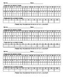 Pre K letter and number assessment