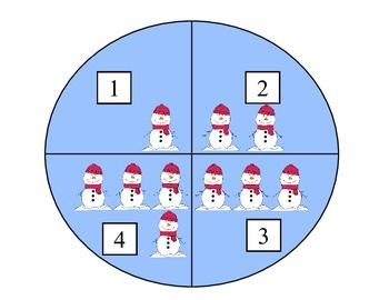 Pre-K object counting  Winter Theme