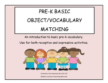 Pre-K object/vocabulary matching