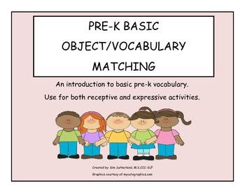 Pre-K object/vocabulary matching