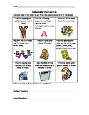 Pre-K or Kindergarten Readiness Skills Homework Tic Tac Toe