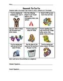 Pre-K or Kindergarten Readiness Skills Homework Tic Tac Toe