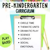 Pre-K or Preschool Play Based Curriculum