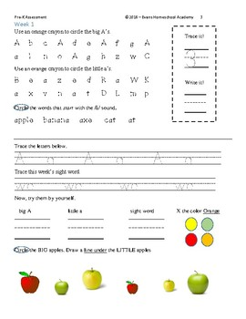 Pre-K through K Assessment Sampler