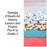 Pre-K to 3rd Art Lesson Georgia O'Keefe Sky Above Clouds A