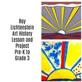 Pre-K to 3rd Art Lesson Roy Lichtenstein Sunrise Art History and Lesson