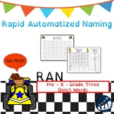 Pre-K to Grade Three Dolch Sight Word Fluency - Rapid Naming Boards