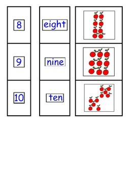 Pre-K to K Counting to Ten (10) Sort-Match