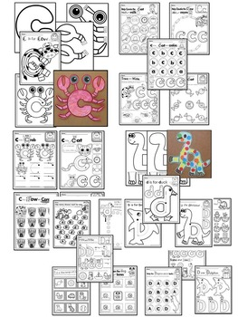 Pre-KG Alphabet Worksheets- BUNDLE PACK (A-I) Tracing, coloring & recognition