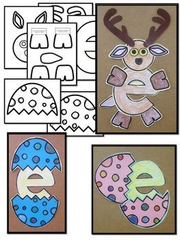 Pre-KG Alphabet Worksheets- LETTER Ee Printables-Tracing, coloring & recognition