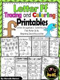 Pre-KG Alphabet Worksheets- LETTER Ff Printables-Tracing, coloring & recognition