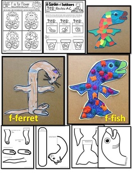 Pre-KG Alphabet Worksheets- LETTER Ff Printables-Tracing, coloring & recognition