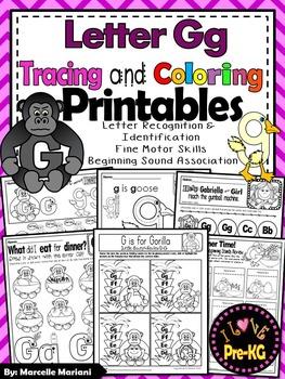 Pre-KG Alphabet Worksheets- LETTER Gg Printables-Tracing,