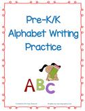 Pre-K/K Alphabet Writing Practice