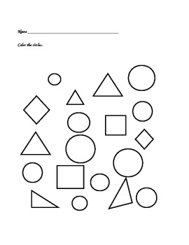 Pre-K/K Circle Recognition and Identification