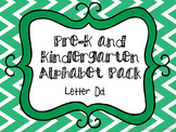 Pre-K/Kindergarten Alphabet Pack - Letter D