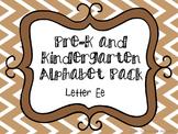 Pre-K/Kindergarten Alphabet Pack - Letter E
