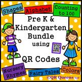 ~ Pre K/Kindergarten ~ MEGA BUNDLE using QR CODES Listening Center