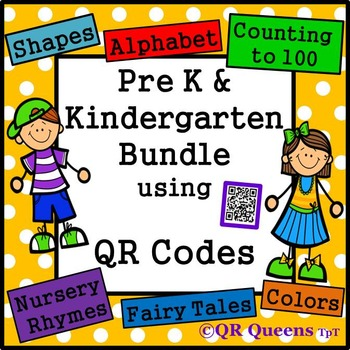 ~ Pre K/Kindergarten ~ MEGA BUNDLE using QR CODES Listening Center