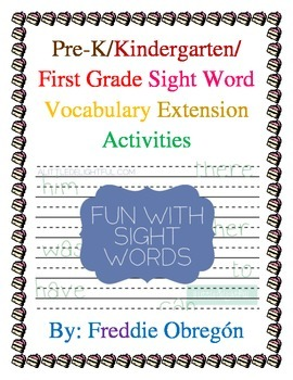 Sight Word Vocabulary Activities
