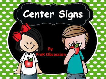 Pre Kinder Center Signs