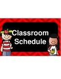 Pre-Kinder Class Schedule