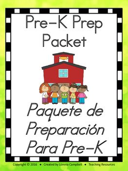 Pre-Kinder Preparation Packet