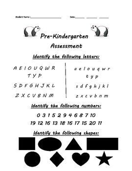 Pre-Kindergarten Assessment