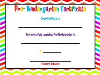 Pre Kindergarten Certificate