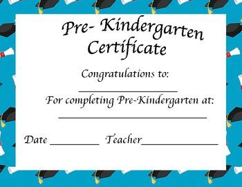 Pre-Kindergarten Certificate/ Graduation/Stepping Up