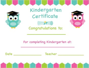 Kindergarten Certificate- Graduation/Stepping Up