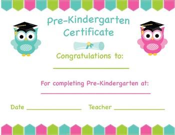 Pre-Kindergarten Certificate- Graduation/Stepping Up
