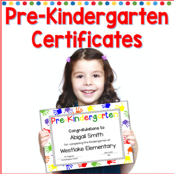 Pre-Kindergarten Completion Certificates