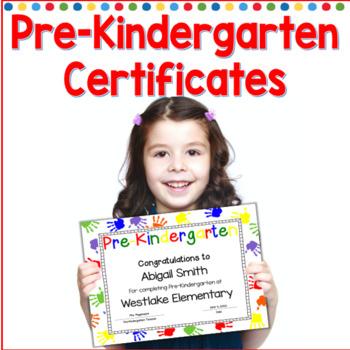 Pre-Kindergarten Completion Certificates