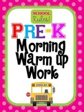 Pre Kindergarten Daily Morning Work 1 with Day and Month (Sept-Dec)