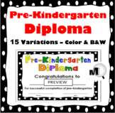 End of the Year Award - Pre-Kindergarten Diploma