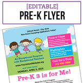 Pre-Kindergarten Flyer - Editable