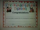 Pre-Kindergarten Graduation Diploma