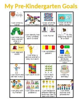 Pre Kindergarten Learning Goals