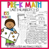 Pre Kindergarten Math Unit 1 Numbers 1-10 *155 pages!