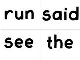 Pre-Kindergarten (Pre-Primer) Dolch Sight Word Flash Cards